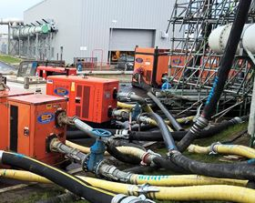 SLD pumps at work on the water treatment site.