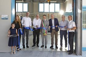Cutting the ribbon at the new Xylem Innovation Center in Montecchio Maggiore, Italy.