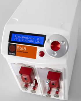 The Asia syringe pump offers a smoother flow.
