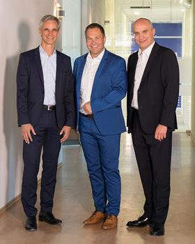 The general management of EagleBurgmann (from left to right): Dr Sebastian Weiss (CFO), Dr Andreas Raps (CEO), and Dr Kai Ziegler (CTO).
