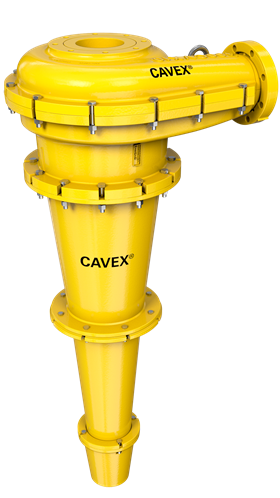 A Cavex 400CVX10 hydrocyclone which contributed to a significant reduction in grinding circuit recirculation and substantial cost savings.