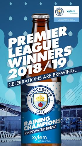 Man City celebrates Premier League win with beer made from Etihad Stadium rainwater