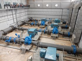 The inspection tour at the Chai Ya Nuchit Pump Station.