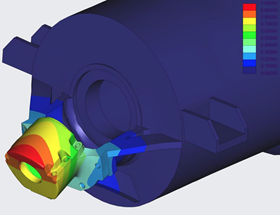 Finite Element Analysis with designed gussets.