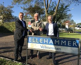 Left to right: Ellehammer CEO Torben Bang Kristensen, Ellehammer Foundation chairman Lars Gudman Pedersen and Iron Pump CEO Anders Frimodt-Møller.