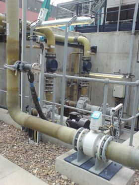 The light gypsum slurry is transferred to the wastewater treatment plant, after which the treated wastewater is disposed.