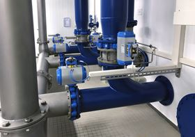 Rotork rack & pinion fluid power actuators at a municipal waterworks plant in Schwebberg.