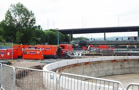 SLD pumps and generators deployed at the waste water treatment plant near Glasgow, Scotland.