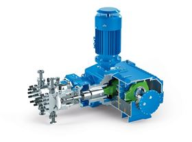 Process diaphragm pumps stand out for their robust mono-block design, for their smooth running thanks to the integrated worm gear with high hydraulic output and for having flow rates that are independent of the discharge pressure. (Image: LEWA GmbH)