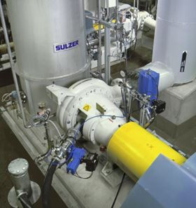 A Sulzer MCE medium consistency pump.