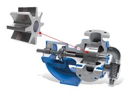 The Universal Seal internal gear pump with a ribbed, stepped idler gear design.