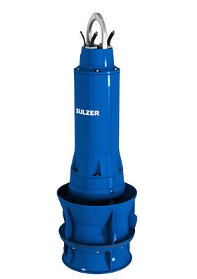 Seven Sulzer VUPX peak load pumps will be installed in the new pumping stations.
