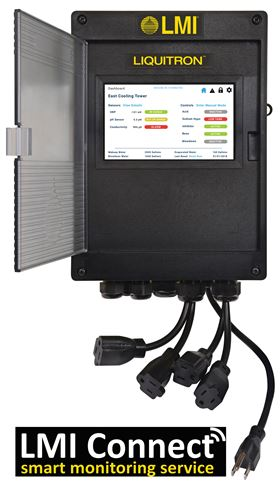 The cloud-based LMI Connect smart monitoring service for water treatment applications.