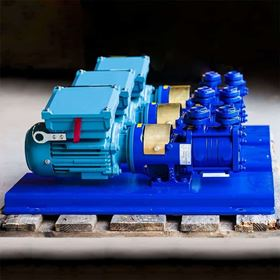 The CDR side-channel pump is a low-flow, high head multi-stage pump having the ability of gas handling and self-priming.