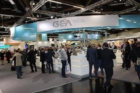 Delegates at the GEA stand at BrauBeviale 2016.
