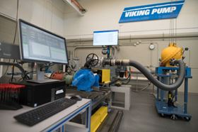 Viking Pump's expanded lab in Cedar Falls.
