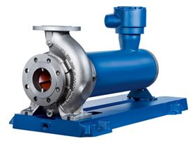 KSB will present its new Ecochem Non-Seal canned motor pump type series at ACHEMA 2015 for the first time. (© KSB Aktiengesellschaft, Frankenthal, Germany)