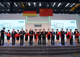 The opening ceremony for Wilo's new plant in Beijing, China