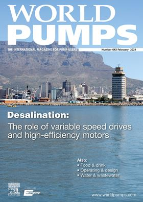 Highlights include an examination of the role of variable speed drives and high efficiency motors in desalination.