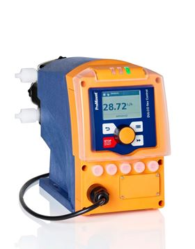 The new Dulcoflex control – DFXa peristaltic metering pump doses from 6–65 l/h with a counter pressure of up to 7 bar.