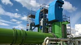 The CWP pump at Bouchain power plant as a complete project. The plant can ramp up its output from zero to full power in only 30 minutes.