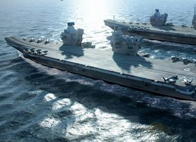 The UK's 'Queen Elizabeth' class aircraft carriers are the second-largest class of warships in the world. Fresh drinking water can be required for up to 2300 personnel.