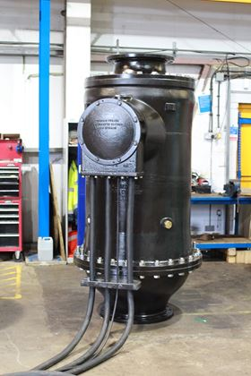 One of Bedford Pumps' bespoke centrifugal pumps at the Kempston works.