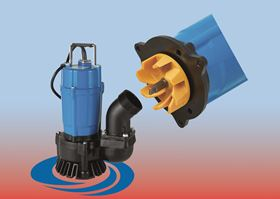Tsurumi's new HS3.75SL submersible pump for dewatering tasks has a small, energy efficient motor with an output of 750 w.
