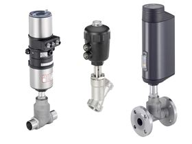 The seat valves with increased pressure and temperature range easily control and switch media with up to 25 bar overpressure and temperatures from 40°C to 230°C. (Image: Bürkert Fluid Control Systems)