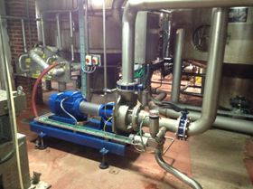 The Grundfos Hilge MAXA is a long-coupled end suction process pump with a low pressure seal flushing arrangement.