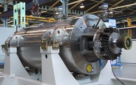 A safety injection pump made at SPX Flow's nuclear equipment production facility in Annecy, France.