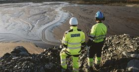 Weir Minerals team members overlook thickened tailings in Finland.