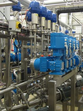 The Lewa pumps in operation at the Arla plant