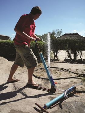 The low-tech Flexipump is easy and intuitive to operate.
