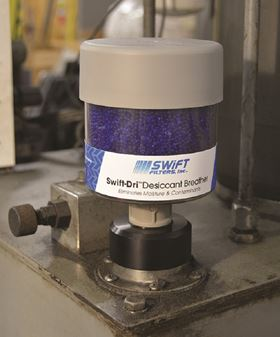 The new Swift-Dri breathers protect equipment from moisture and particulate.