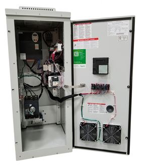 The S-Flex enclosed AC drive line offers a compact design allowing for installation in smaller spaces.