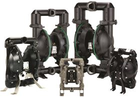 Ingersoll Rand ARO aluminum Pro Series pumps constructed with Hytrel diaphragms.