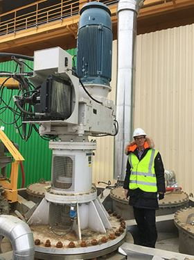 The Scaba 240FVPT-Sff agitator operates smoothly at the PhosAgro Cherepovets site in Russia.