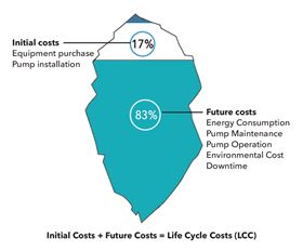 Initial costs + Future Costs = Life Cycle Costs (LCC).