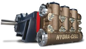 The Hydra-Cell T200 Series medium pressure pumps have no seals or packing.