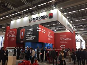 Visitors at the Armstrong stand at ISH in 2019.
