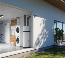 The Daikin Altherma M HW is a renewable heating solution for domestic water that uses electricity, air and, if needed, solar energy without resorting to traditional fuels.