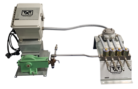 The Texsteam multipoint injection is for oil and gas wellhead chemical injection operations.