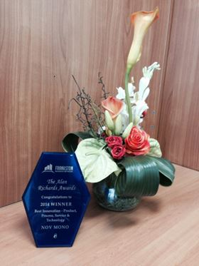 NOV Mono's approach to commerce and product development has earned the company a prominent Australian business award.