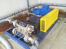 Hydra-Cell T8045 pump installation at a plant of OMV Petrom in Romania.