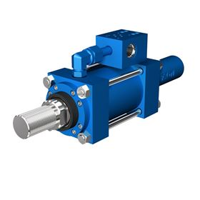The electrohydraulic cylinder has a reduced setup time with simplified plumbing and electrical connections.