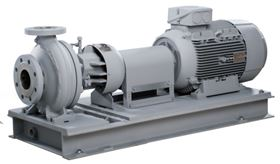 HPK-L, the new hot water recirculation pump, can handle hot water of up to 400 °C without external cooling. (Photo: KSB Aktiengesellschaft, Frankenthal, Germany)