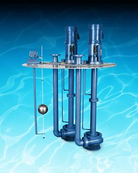 The Vertiflo Series 800 industrial vertical immersion sump pump.
