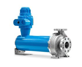 The NIKKISO Non-Seal Iso sealless pump design, which has the motor located inside the pressure-resistant stator casing, is in accordance with DIN EN ISO 2858. (Image: LEWA GmbH)