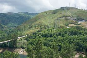 The pumped storage power plant Frades 2 is in the north-west of Portugal installed in an underground cavern.